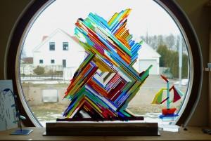 Glasskulptur 1 av B.Jönsson